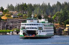 Washington State Ferry at Friday Harbor, San Juan Islands, WA USA