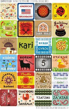 24 etiket na kořenky (kořenící směsi) / Zboží prodejce Imagine Something Beautiful Tzatziki, Garam Masala, Paella, Cards, Beautiful, Maps, Playing Cards