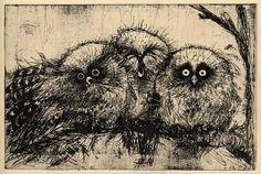Three Owls by Nu Ryu