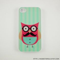 An owl with a mustache?! What more could I want in an iPhone case? by sondra