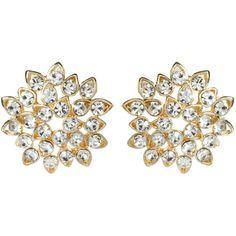 Amrita Singh Zinnia Floral Stud Earring ($60) ❤ liked on Polyvore