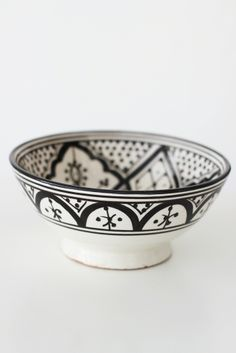 Moroccan hand painted Bowl