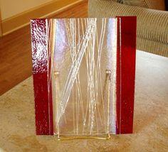 Fused Glass Art Decorative Fused Glass Art by rosepetalsjewelry, $50.00