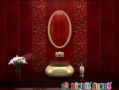 Dikey Banyo Bordür Döşeme Örnekleri Banyo Seramik Dekorasyon Fikirleri