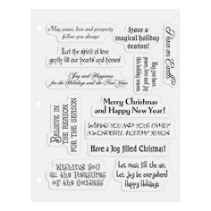Card sentiments for the upcoming holiday season other pinterest christmas card sayings clear stamps orientaltrading m4hsunfo