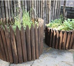 Picket - Wooden Pile Flowerbed Fence – Warmly Wood Edging, Heat Treating, Flower Beds, Picket Fences, Plants, Gardening, Touch, Money, Country