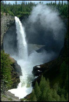 Helmcken Falls, The Myrtle River  Wells Gray Provincial Park, British Columbia
