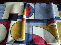Tissus motifs graphiques, Coupon de coton vintage dessins graphiques est une création orginale de SCHERZO sur DaWanda