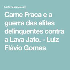 Carne Fraca e a guerra das elites delinquentes contra a Lava Jato. - Luiz Flávio Gomes