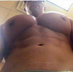 Man boobs upper pecs