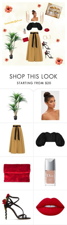 """""""Sarbani vacation"""" by sarbani on Polyvore featuring TradeMark, Temperley London, E L L E R Y, Christian Dior, Dolce&Gabbana, Lime Crime, chic, travel, tropical and vacation"""