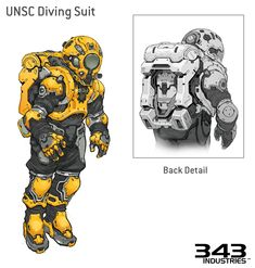 33 ideas for science fiction concept halo 5 Concept Art World, Robot Concept Art, Armor Concept, Space Ship Concept Art, Cyberpunk, Character Concept, Character Art, Character Design, Arte Robot