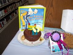 """Funniest award went to Audrie N. for """"One Potato, Two Potato""""  2012 Edible Book Festival at Burton Public Library"""