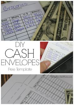 DIY Cash envelope - use this with your cash envelope system when you are trying to get out of debt via @PennyPinchinMom