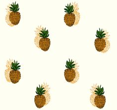 Pineapple Mania // Wall Print // Wallpaper