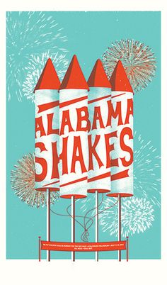 GigPosters.com - Alabama Shakes - Fly Golden Eagle - Hooray For The Riff Raff
