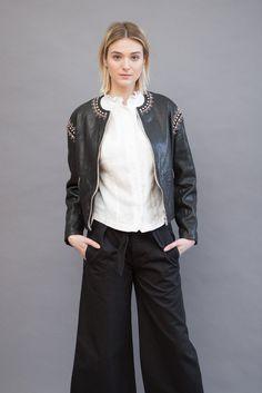 Isabel Marant Étoile Buddy Studded Bomber Jacket