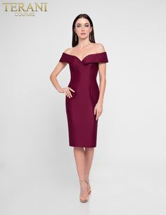 8fcbaa18027 Off shoulder elegant cocktail dress Elegant Cocktail Dress