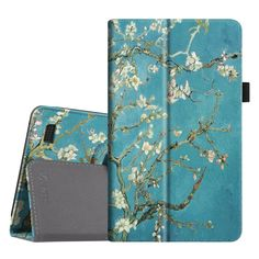 "Fintie Folio Case for Fire 7 2015 - Slim Fit Premium Vegan Leather Standing Protective Cover Case for Amazon Fire 7 Tablet (will only fit Fire 7"" Display 5th Generation - 2015 release), Blossom"