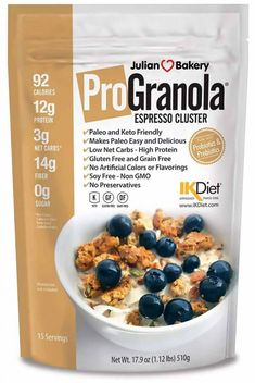 Keto Snacks to help you stay in ketosis without worrying about what to snack on Keto diet. These store bought Keto friendly snacks on the go. Best Breakfast Cereal, Best Cereal, Best Low Carb Snacks, Keto Snacks, Cereal For Diabetics, Julian Bakery, Keto Fast Food, Gluten Free Grains, Keto Recipes