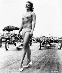 Bikini Beach, 1964: Autocult My grandpa Merek Chertkow drove in this movie. In fact, he drove one of the dragsters behind her!