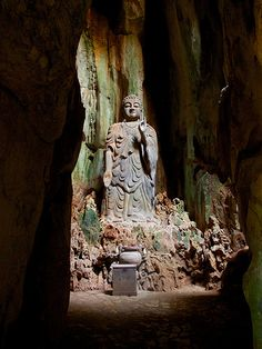 Should a person do good, let him do it again and again. Let him find pleasure therein, for blissful is the accumulation of good - Dhammapada Theravada Buddhism. Scenic Photography, Nature Photography, Statues, Theravada Buddhism, Buddha Temple, Rock Sculpture, China Art, Guanyin, Stone Carving