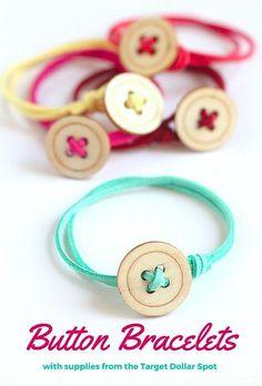 Easy to Make Button Bracelets