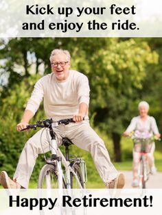 Send Free Enjoy The Ride-Happy Retirement Card to Loved Ones on Birthday & Greeting Cards by Davia. Happy Retirement Cards, Retirement Greetings, Earn More Money, Ways To Save Money, Renters Insurance, Improve Your Credit Score, Low Impact Workout, Best Credit Cards, Injury Prevention