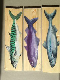 les poissons, peinture à l'huile - LES PINCEAUX DE TIPHAINE
