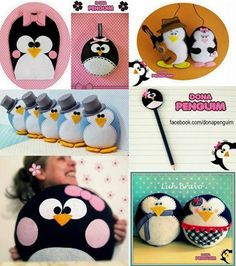 Pinguins fofos by Dona Penguim