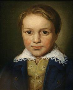LUDWIG VAN BEETHOVEN. Um retrato com 13 anos de idade de Beethoven, produzido por um autor desconhecido. Tendo como data aproximada de producao 1793 (A portrait of the 13-year-old Beethoven by an unknown Bonn master, c. 1783)