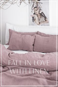 Linen bedding it timelessly stylish and exceptionally long-lasting. Only few of the reason to fall in love with. Dusty Pink Bedding, Pink Bedding Set, Boho Bedding, Luxury Bedding Sets, Linen Bedding, Ikea, Modern Bed Linen, Bedding Master Bedroom, Neutral
