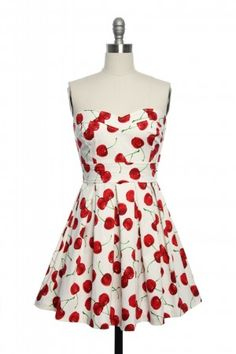 Cheery Cherries Dress in White  from laceaffair.com