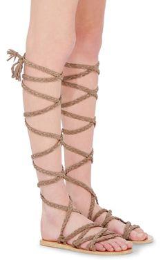 Kariatida Braided Gladiator Sandals by Ancient Greek Sandals   Moda Operandi