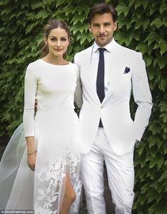 Mr and Mrs Huebl: Olivia Palermo married longtime love Johannes Huebl in Bedford, New York on Saturday
