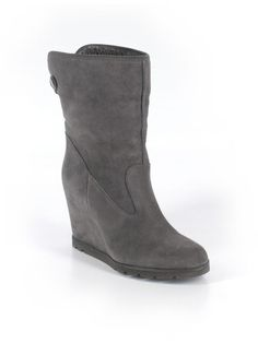 697a9d0252ff Women Ugg Kyra Granite Gray Suede Wedge Convertible Ankle Boot Size 9 40  1009318  ugg