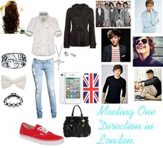 """Meeting One Direction."" by miami-heat-dancer ❤ liked on Polyvore"