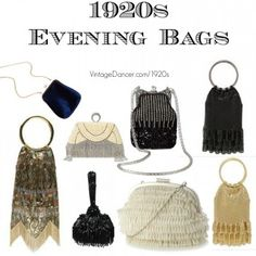1920s inspired evening bags, flapper purses found at VvintageDancer com