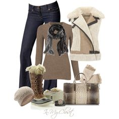 Winter Wear - #18 by in-my-closet on Polyvore featuring Mint Velvet, SOREL, Brahmin, TOKYObay, H&M, SELECTED, Jack Spade and J Brand
