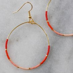 Raw Diamond Stud Earrings in a Triangle Shape, Raw Diamond and Silver Jewelry, Aries April Birthstone Earrings, Authentic Diamond Slices - Fine Jewelry Ideas Red Beaded Hoop Earrings Gold Hoops Red Earrings Gift For Red Earrings, Gold Hoop Earrings, Bridal Earrings, Beaded Earrings, Beaded Jewelry, Gold Hoops, Diamond Earrings, Diamond Stud, Raw Diamond