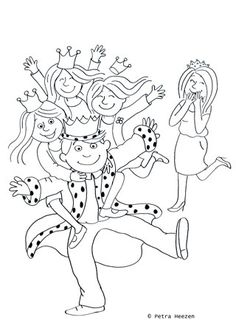 kleurplaat-koningsdag Colouring Pages, Coloring Books, Kings Day, A Blessing, Windmill, Holland, Medieval, Blessed, Classroom