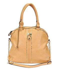 Another great find on #zulily! Tan Chain Tote by Alfa #zulilyfinds