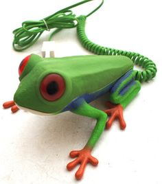 Retro Novelty Green Frog Telephone