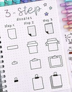 Free tutorials for bullet journal doodles to teach you how to draw a book standing up, an open book, a stack or pile of books, a bookshelf and more. Bullet Journal School, Bullet Journal Writing, Bullet Journal Banner, Bullet Journal Aesthetic, Bullet Journal Ideas Pages, Bullet Journal Inspiration, Bullet Journal For Beginners, Bullet Journals, Doodle Art For Beginners