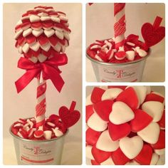 Sweet tree Bouquet Box, Candy Bouquet, Christmas Candy, Christmas Baking, Cupcake Crafts, Candy Trees, Bar A Bonbon, Valentine's Day Gift Baskets, Sweet Trees