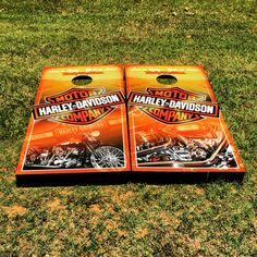 Harley Davidson Corn Hole Custom Cornhole Boards M R