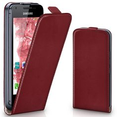 Hülle Cover mit Magnet   Flip Case Etui Handyhülle zum Aufklappen   Handytasche Handy Schutz Bumper Schutzhülle mit Schale in Dunkelrot