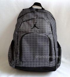 Nike Air Jordan Gray and Black 23 Backpack for Men 3e18a178efd8f