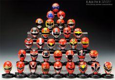 Red Ranger Helmets