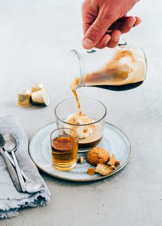 Caramel affogato - espresso met ijs